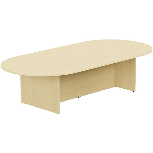 Kito W3000mmxD1400mm Maple D-End Boardroom Table with Panel Leg Base - 10-12 Person Seating Capacity