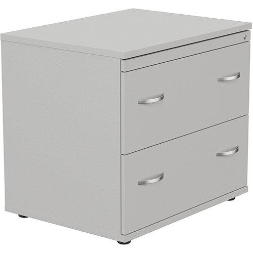 Kito 2 Drawer Side Filer Cabinet Grey