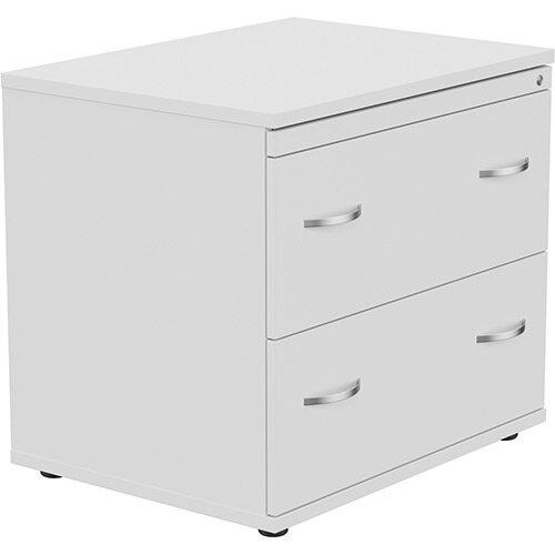 Kito 2 Drawer Side Filer Cabinet White