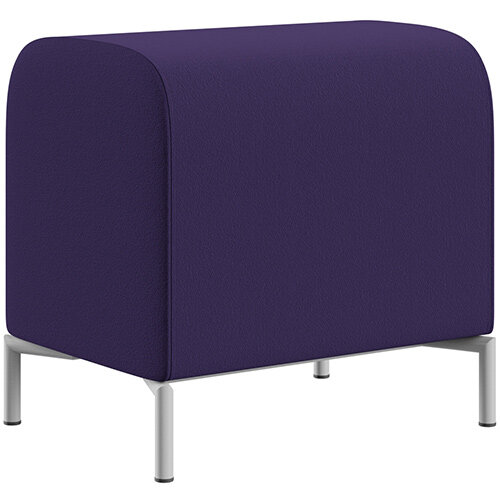 SIGMA MODULAR Soft Seating Pouffe With Standard Metal Legs - Camira BLAZER 100% Wool Fabric