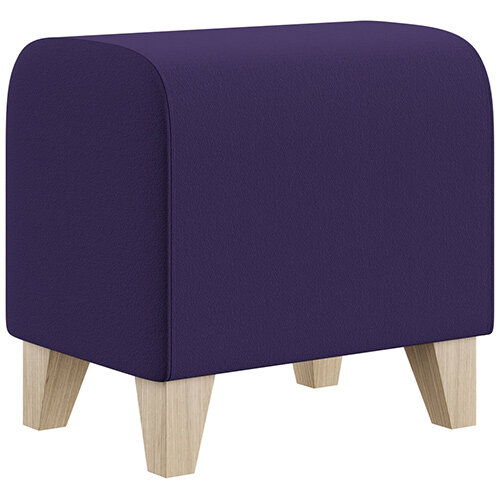 SIGMA MODULAR Soft Seating Pouffe With Trapezoid Wooden Legs - Camira BLAZER 100% Wool Fabric