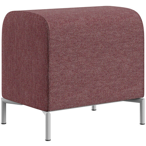 SIGMA MODULAR Soft Seating Pouffe With Standard Metal Legs - RIVET Fabric