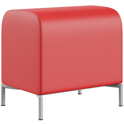 SIGMA MODULAR Soft Seating Pouffe With Standard Metal Legs - LOTUS Leather-Look Upholstery