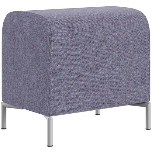 SIGMA MODULAR Soft Seating Pouffe With Standard Metal Legs - MAIN LINE FLAX Fabric