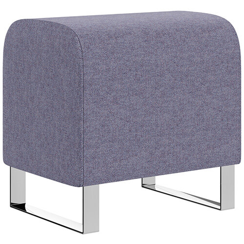 SIGMA MODULAR Soft Seating Pouffe With Cantilever Chrome Legs - MAIN LINE FLAX Fabric