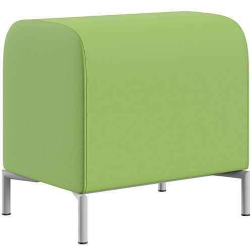 SIGMA MODULAR Soft Seating Pouffe With Standard Metal Legs - VALENCIA Leather-Look Upholstery