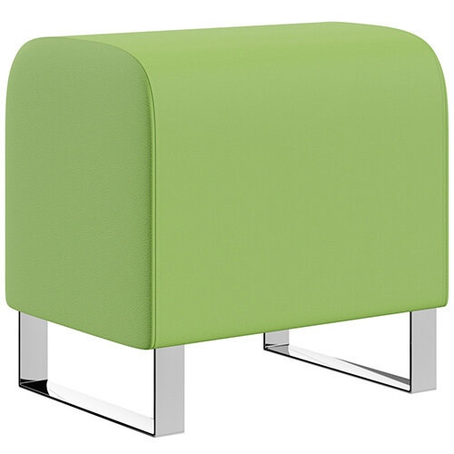 SIGMA MODULAR Soft Seating Pouffe With Cantilever Chrome Legs - VALENCIA Leather-Look Upholstery