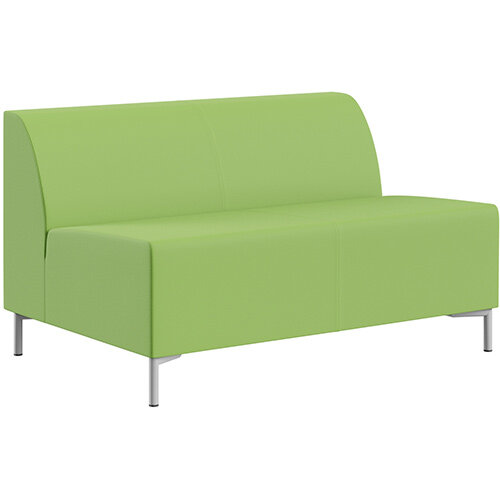 SIGMA MODULAR Soft Seating 2 Seater Unit With Standard Metal Legs - VALENCIA Leather-Look Upholstery