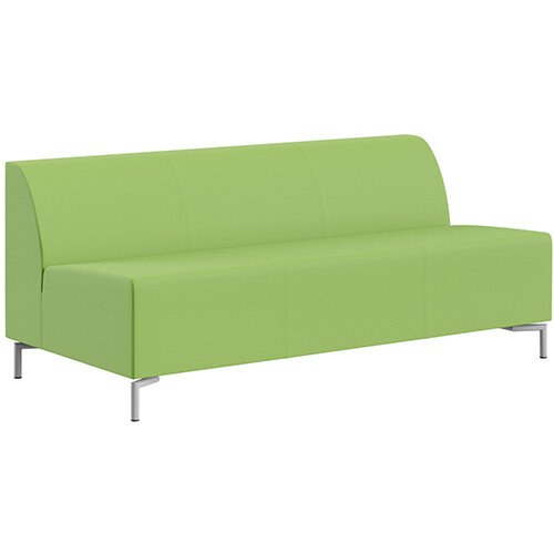 SIGMA MODULAR Soft Seating 3 Seater Unit With Standard Metal Legs - VALENCIA Leather-Look Upholstery