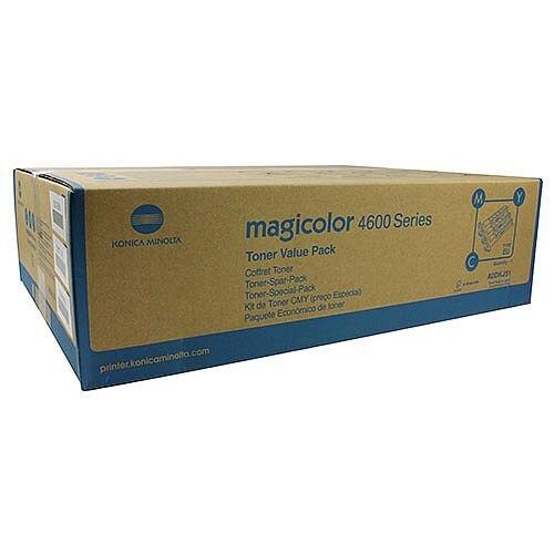 Konica Minolta Magicolor 4650 Standard Yield Toner Value Kit 4K CMY A0DKJ51