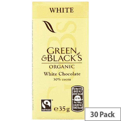 Green &Blacks 35g White Chocolate Pack of 30 611637