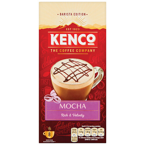 Kenco Mocha Instant Sachet Pack of 8 4041494