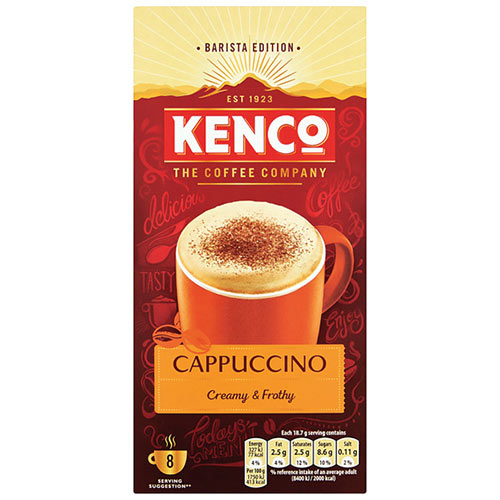 Kenco Cappuccino Instant Sachet Pack of 8 4019274