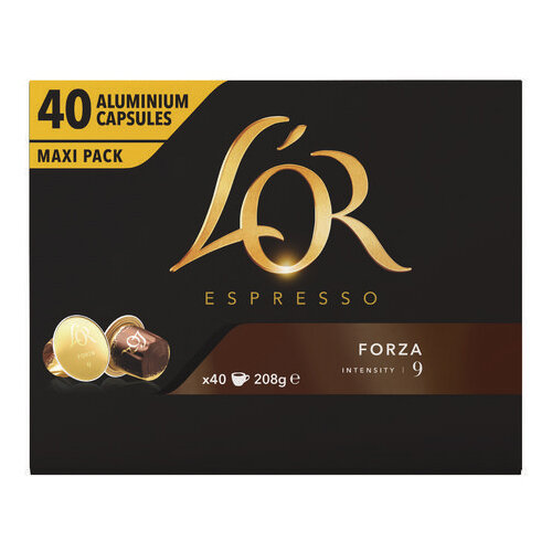 L'Or Nespresso Forza Capsule Pack of 40 4028489