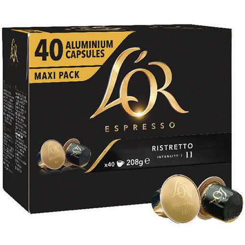 L'Or Nespresso Ristretto Capsule Pack of 40 4028790