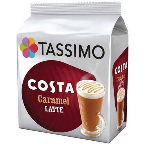 Tassimo Costa Caramel Latte Coffee Pods Pack of 45 4031637