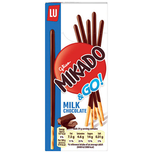 Mikado Milk Sticks Biscuit 39g Pack of 24 750535