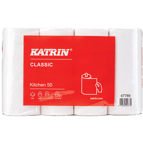Katrin Classic Kitchen Roll 50 Sheet Pack of 32 47789