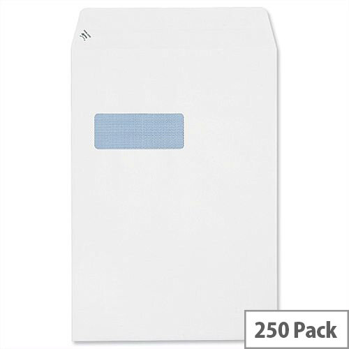 Plus Fabric C4 White 110gsm Window Envelopes Pocket Peel and Seal (Pack of 250)