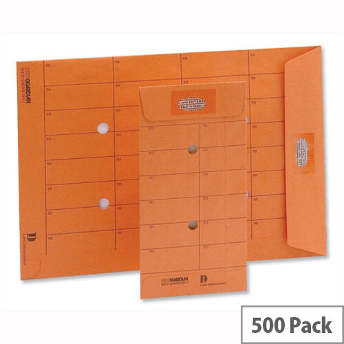New Guardian Internal Mail C5 Envelopes 85gsm Resealable Orange (500 Pack)