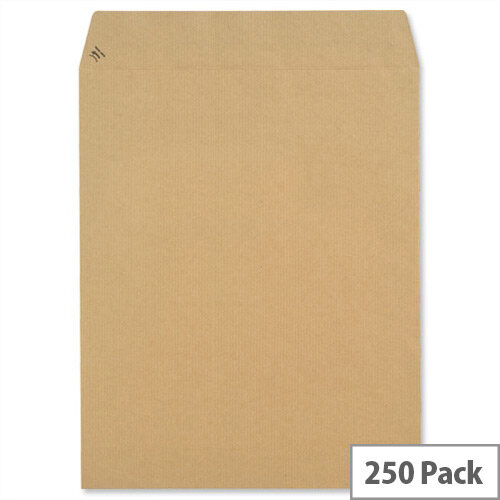 New Guardian 305x250mm 130gsm Manilla Peel and Seal Pocket Envelopes Pack of 250