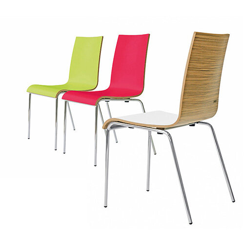 Frovi ZERO 2-TONE Canteen Chair With 4 Leg Chrome Base H850xW450xD510mm 450mm Seat Height