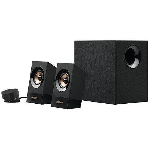 Logitech Z533 Speaker System for PC 2.1 Surround - 60W Power - RCA and Jack 3.5mm input - Two Speakers with Subwoofer - Volume Control - 980-001055