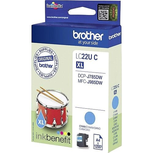 Brother LC22UC Cyan Super High Yield Inkjet Cartridge LC-22U