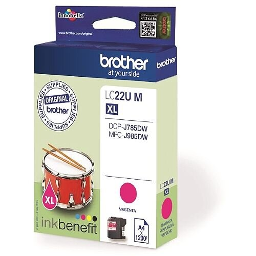 Brother LC22UM Magenta Super High Yield Inkjet Cartridge LC-22U