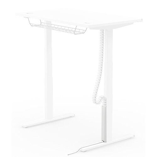 Magnetic Cable Protector For Leap Height Adjustable Desks White