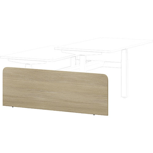 Leap Height Adjustable Bench Desk Side Modesty Panel Urban Oak