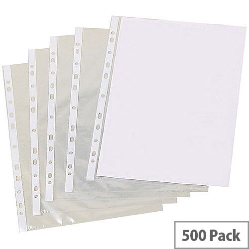 Punched Pocket A4 Pk500 Clear Pm22312