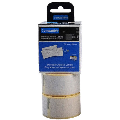 Compatible DYMO Standard Address Label 28 x 89mm Pack of 260 LL87010