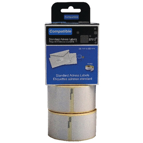 Compatible DYMO Large Address Label 36 x 89mm Pack of 520 LL87012