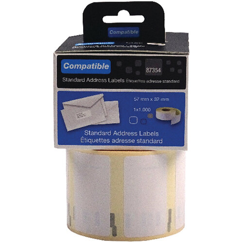 Compatible DYMO Multipurpose Label 57 x 32mm Pack of 1000 LL87454