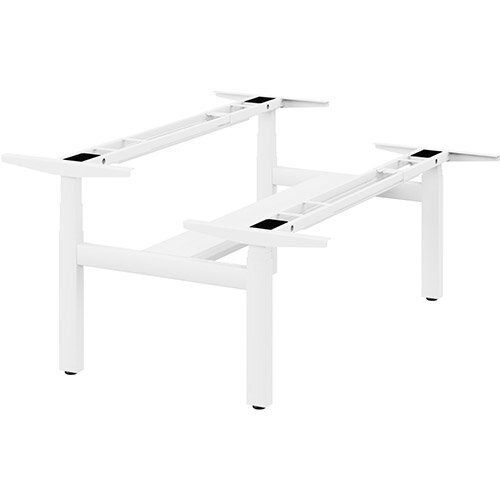 Leap Double Bench 3 Stage Electric Height Adjustable Telescopic Frame White - Suitable for desktop width 1200,1400,1600,1800mm