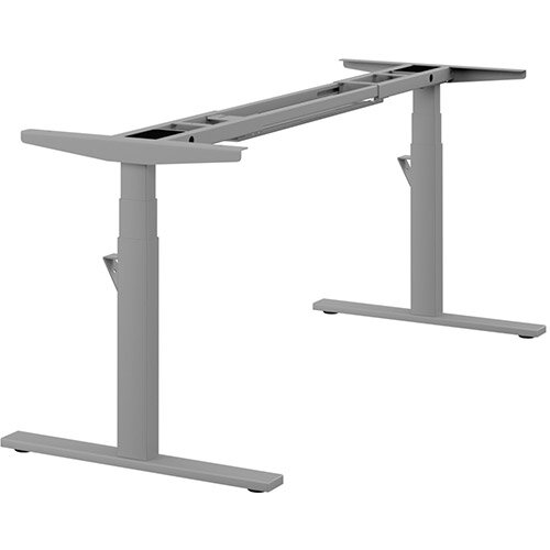 Leap Single 3 Stage Electric Height Adjustable Telescopic Frame Silver - Suitable for desktop width 1200,1400,1600,1800mm