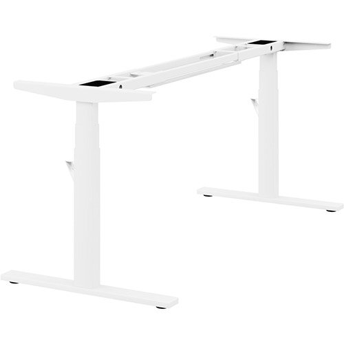 Leap Single 3 Stage Electric Height Adjustable Telescopic Frame White - Suitable for desktop width 1200,1400,1600,1800mm