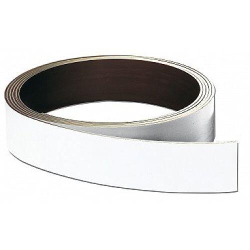 Franken Store Labels Magnetic Strip 20mm x 10m White LS20