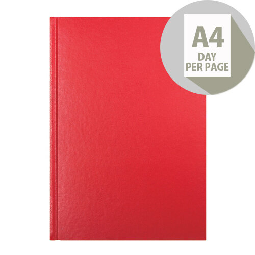 Letts 11Z Red A4 Day Per Page Diary 2020 20-T11ZRD