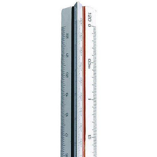 Linex Triangular Scale Rule 500-2500 30cm