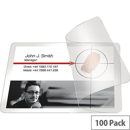 Pelltech Self Laminating Pouch Card 54x86mm Pack of 100