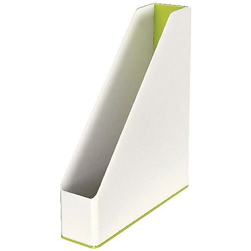 Leitz WOW Magazine File Dual Colour White/Green 53621064