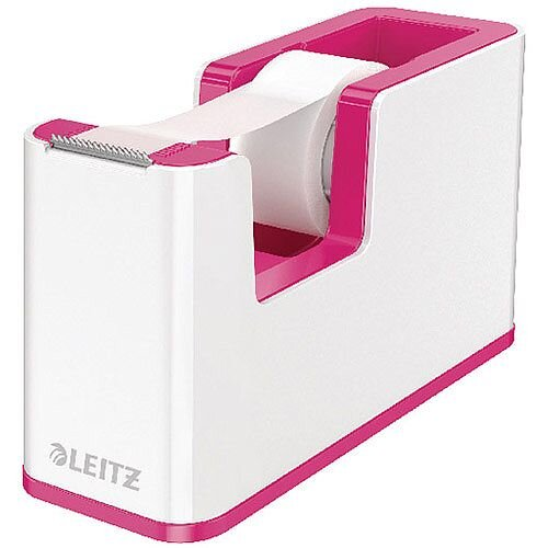 Leitz WOW Tape Dispenser White/Pink 53641023