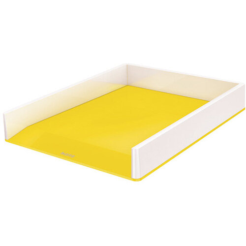 Leitz WOW Letter Tray Dual Colour White/Yellow 53611016