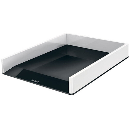 Leitz WOW Letter Tray Dual Colour White/Black 53611095