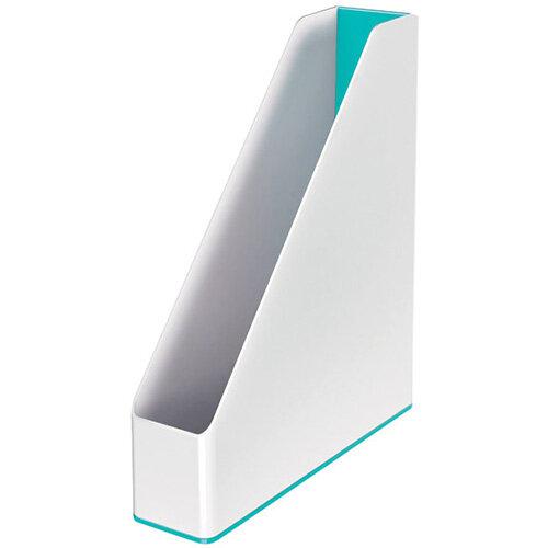 Leitz WOW Magazine File Dual Colour White/Ice Blue 53621051