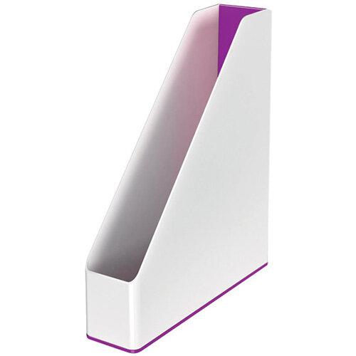 Leitz WOW Magazine File Dual Colour White/Purple 53621062