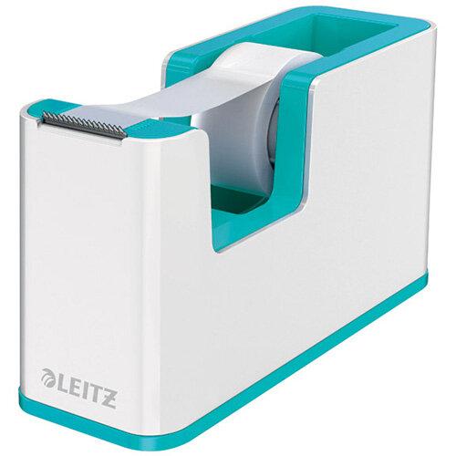 Leitz WOW Tape Dispenser Dual Colour White/Ice Blue 53641051