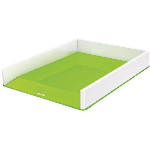Leitz WOW Letter Tray Dual Colour White/Green 53611054